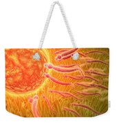 Sperm Traveling Towards Egg With Cellia Weekender Tote Bag