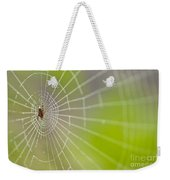 Spider Web With Dew Drops With Spider On Web Weekender Tote Bag