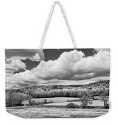 Spring Farm Landscape With Dandelions In Maine Weekender Tote Bag
