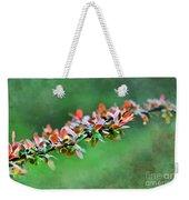 Spring Raindrops On Leaves - Digital Paint Weekender Tote Bag