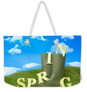 Spring Wellies Weekender Tote Bag