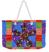 Squares Lines Dots Symbol Infinity Red Purple Blue Green Colorful Waves Unique Background Designs  A Weekender Tote Bag