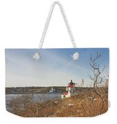 Squirrel Point Lighthouse Kennebec River Maine Weekender Tote Bag