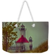 St. Joseph North Pier Lighthouse Lake Michigan. Weekender Tote Bag