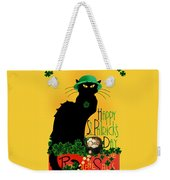 St Patrick's Day - Le Chat Noir Weekender Tote Bag by Gravityx9 Designs
