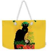 St Patrick's Day - Le Chat Noir Weekender Tote Bag