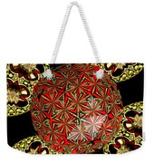 Stained Glass Kaleidoscope Under Glass Weekender Tote Bag