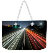 Standing In Car On Side Of The Road At Night In The City Weekender Tote Bag
