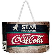 Star Drug Store Wall Sign Weekender Tote Bag