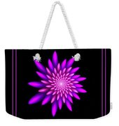 Starburst-32 Framed Black And Pink Weekender Tote Bag