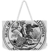 State Seal Illinois Weekender Tote Bag