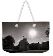 Statue Of Angel Of Peace Atop The Wellington Arch Weekender Tote Bag