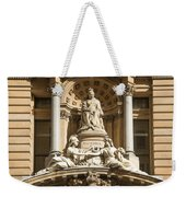Statue Of Queen Victoria At Town Hall Of Sydney Australia Weekender Tote Bag
