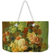 Still Life With Fruit And Flowers Weekender Tote Bag