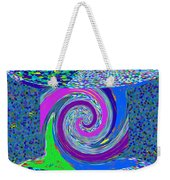 Stool Pie Chart Twirl Tornado Colorful Blue Sparkle Artistic Digital Navinjoshi Artist Created Image Weekender Tote Bag