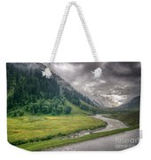 storm clouds over mountains of ladakh Jammu and Kashmir India Weekender Tote Bag