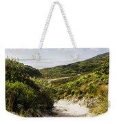 Strahan Coast Landscape Winding To The Ocean Weekender Tote Bag