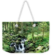 Stream Flowing Through A Forest, Usa Weekender Tote Bag