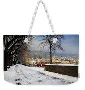Street With Snow Weekender Tote Bag