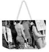 Strippers On Strike Weekender Tote Bag