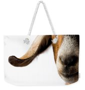 Studio Portrait Of A Mixed-breed Goat Weekender Tote Bag