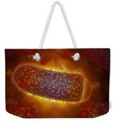 Stylized Rabies Virus Particles Weekender Tote Bag by Stocktrek Images