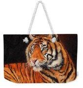 Sumatran Tiger Weekender Tote Bag by David Stribbling