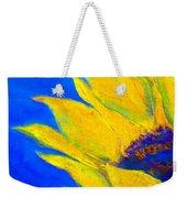 Sunflower In Blue Weekender Tote Bag