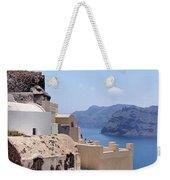Sunny Santorini Weekender Tote Bag