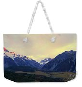 Sunrise On Aoraki Mount Cook In New Zealand Weekender Tote Bag