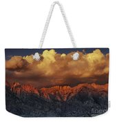 Sunrise Storm Alabama Hills California  Weekender Tote Bag