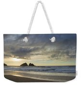 Sunset At Holywell Bay Weekender Tote Bag