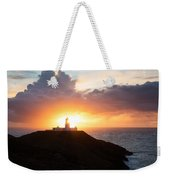 Sunset At Strumble Head Lighthouse Weekender Tote Bag