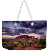 Sunset At The Superstitions  Weekender Tote Bag