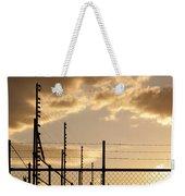 Sunset Fence Weekender Tote Bag