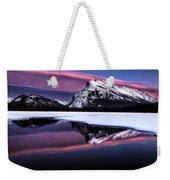Sunset Mount Rundle Weekender Tote Bag