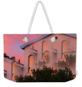 Sunset On Houses Weekender Tote Bag by Augusta Stylianou