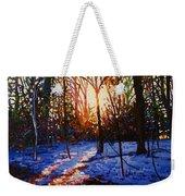 Sunset On Snow Weekender Tote Bag