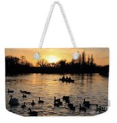 Sunset On The Thames At Walton Weekender Tote Bag
