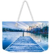 Sunset Over Lake Wylie At A Dock Weekender Tote Bag
