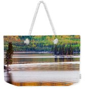Sunset Reflections On Boreal Forest Lake In Yukon Weekender Tote Bag