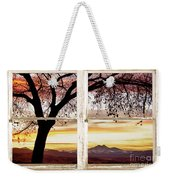 Sunset Tree Silhouette Abstract Picture Window View Weekender Tote Bag by James BO  Insogna