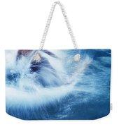Surfer Carving On Splashing Wave, Interesting Perspective And Blur Weekender Tote Bag
