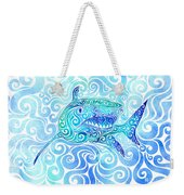 Swirly Shark Weekender Tote Bag