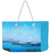 Sydney Harbour And The Opera House Cityscape View Weekender Tote Bag