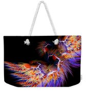 Symbol Of Fire Weekender Tote Bag by Lourry Legarde