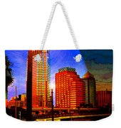 Tampa History In Reflection Weekender Tote Bag