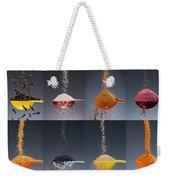 1 Tablespoon Flavor Collage Weekender Tote Bag by Steve Gadomski