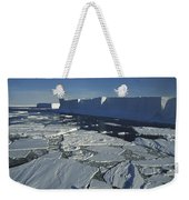 Tabular Iceberg With Broken Fast Ice Weekender Tote Bag