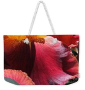 Tall Bearded Iris Named Ancient Echoes Weekender Tote Bag